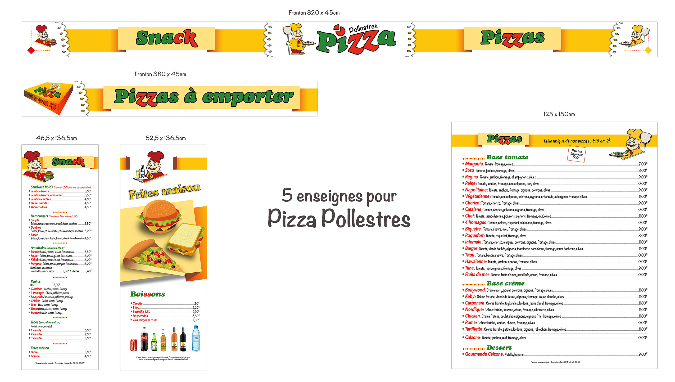 Impression menus, communication restaurants, communication restauration